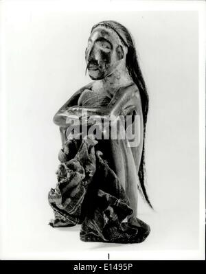 Apr. 17, 2012 - Art of the First Americans Only 17 cm. high this sensitive little figure, beautifully carved of - Stock Photo