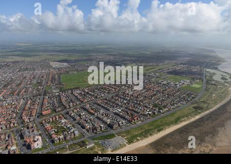 Aerial photograph of Lytham Saint Annes showing Royal Lytham & St Annes Golf Club - Stock Photo