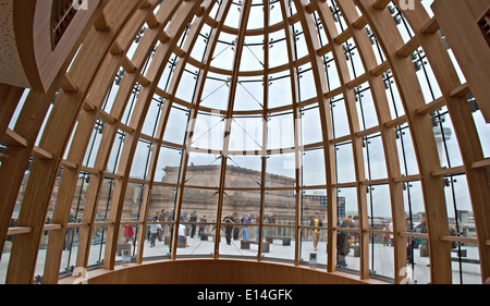 View through domed roof of Liverpool Central Library - Stock Photo