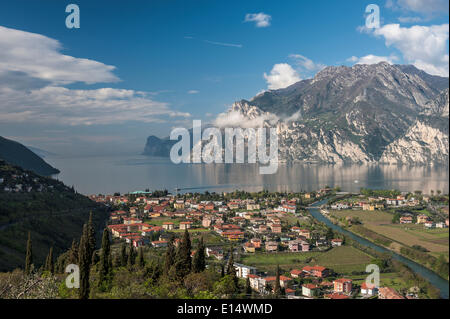 Nago-Torbole on Lake Garda, Trentino-Alto Adige, Italy - Stock Photo