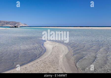 Elafonisi Beach, west coast, Crete, Greece - Stock Photo