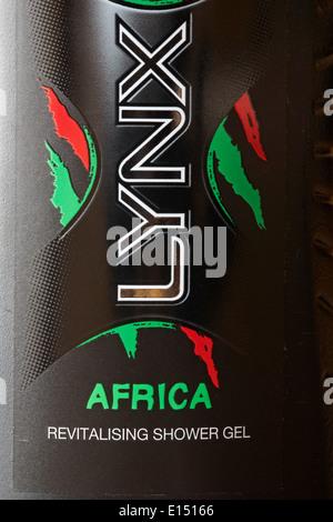 Lynx Africa revitalising shower gel - Stock Photo