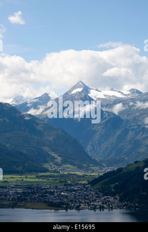 The Kitzsteinhorn above Kaprun  near Zell am See Salzburgerland Austria - Stock Photo