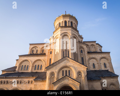 The Holy Trinity Cathedral (Sameba) in Tbilisi, Georgia. - Stock Photo