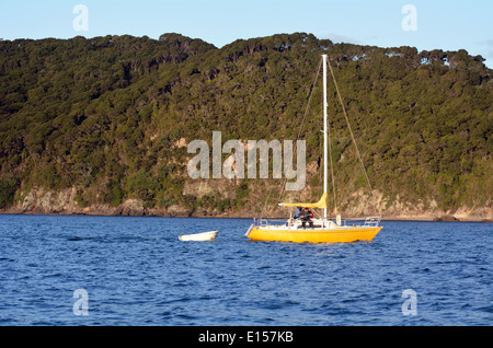 Yacht sail in the Bay of Islands.It is one of the most popular fishing, sailing and tourist destinations in New - Stock Photo