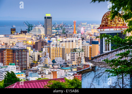 Kobe, Japan skyline from the Kitano District. - Stock Photo