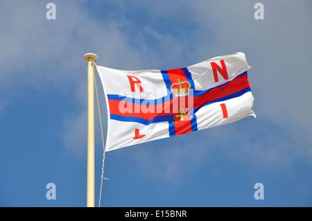 Royal National Lifeboat Institute flag, England, UK - Stock Photo