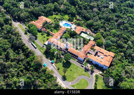 South America, Brasilia, Parana, Iguazu National Park, Belmond Hotel das Cataratas at Iguazu Falls - Stock Photo