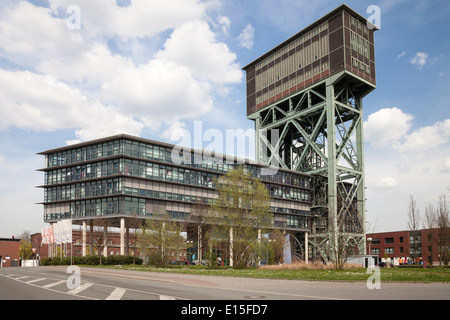 Germany North Rhine-Westphalia Dortmund Eving,Industrial Park former Coal Mine Minister Stein Hammerkopf Tower office - Stock Photo
