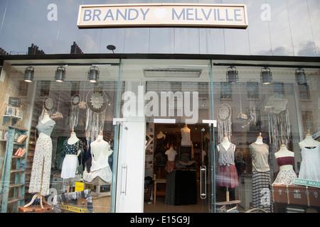 Brandy Melville Shop; Kings Road; Chelsea; London; England; UK - Stock Photo