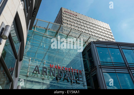 The Manchester Arndale shopping centre and tower block UK - Stock Photo