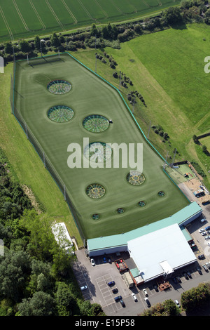 aerial view of Topgolf Chigwell, a modern golf driving range at Chigwell, Essex - Stock Photo