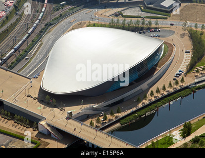 aerial view of the Olympic Velodrome pringle building, officially Lee Valley VeloPark, built for the 2012 London - Stock Photo