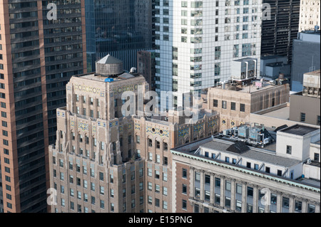 Apartment buildings and offices in the Financial District of Lower Manhattan, New York City. May 18, 2014 - Stock Photo