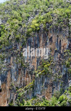 Famous mogotes karstic landscape in Vinales National Park. UNESCO World Heritage Site. - Stock Photo