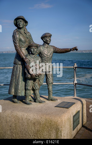 Annie Moore statue in Cobh, Ireland. At 15, with her 2 brothers were the first immigrants processed at Ellis Island in New York