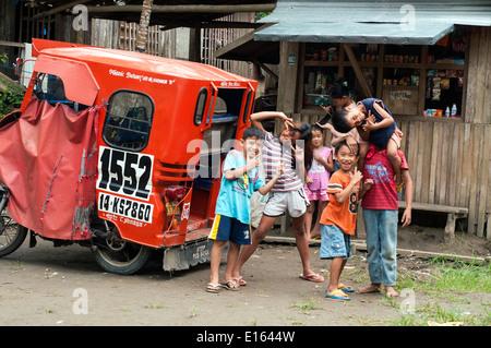 village in Barangay Bading, Butuan, Philippines - Stock Photo