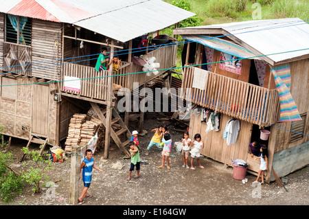 village housing, Butuan, Philippines - Stock Photo