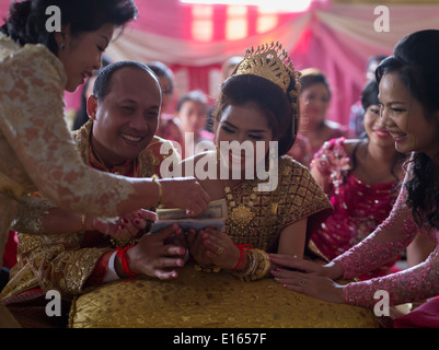 Gifts For Parents At Cambodian Wedding Of Suon Kosal Groom And Pao