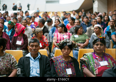 Ex-Guatemalan dictator Rios Montt goes on trial for Genocide, Guatemala City, Guatemala. - Stock Photo