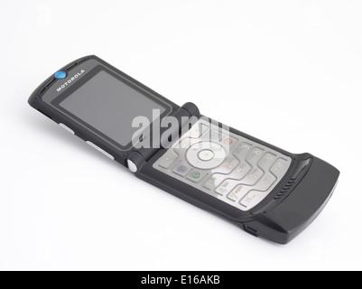 Motorola Razr V3 ( 2004 ) iconic clamshell mobile phone - Stock Photo
