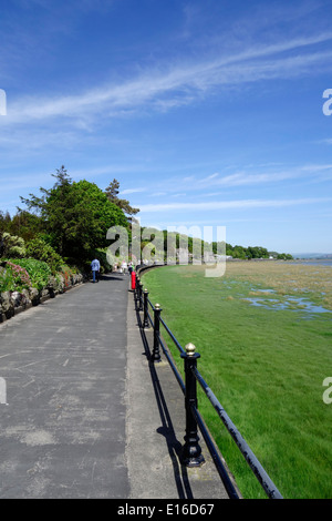 Promenade at Grange-Over-Sands Overlooking Morecambe Bay, Cumbria, England, UK - Stock Photo
