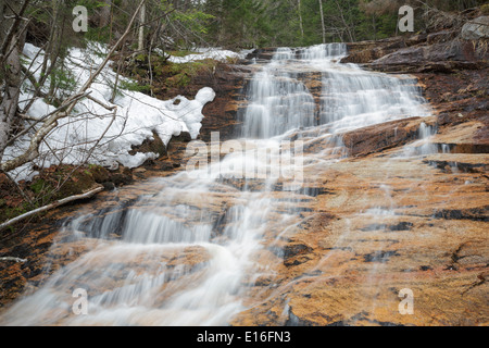Crawford Notch State Park - Kedron Flume along Kedron Brook in Harts Location, New Hampshire USA during the spring - Stock Photo