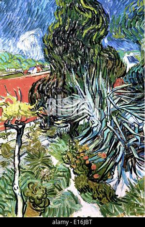 Doctor Gachetu0027s Garden In Auvers By Vincent Van Gogh, 1888   Stock Photo