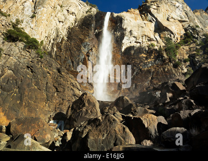 CALIFORNIA - Bridalveil Fall in the Yosemite Valley area of Yosemite National Park. - Stock Photo