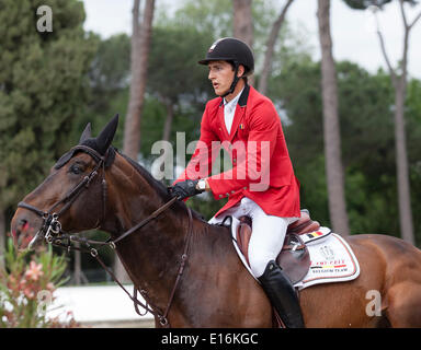 Furusiyya FEI Nations Cup Show jumping competition at Piazza di Siena. Nicola Philipaerts of Belgium riding Forever - Stock Photo