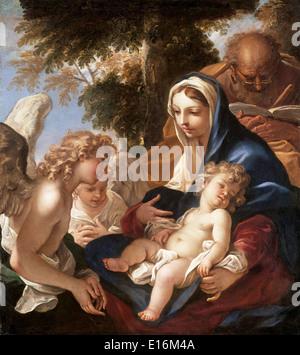 Holy Family with Angels by Sebastiano Ricci, 1700 - Stock Photo