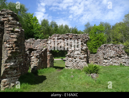 Ravenglass Roman Bath House or Walls Castle, Ravenglass, Lake District National Park, Cumbria, England, UK - Stock Photo