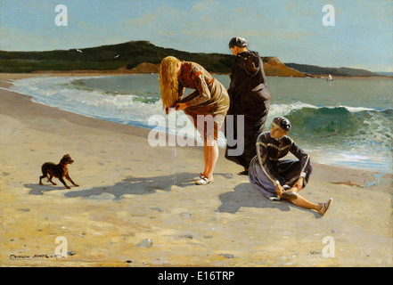 Eagle Head, Manchester, Massachusetts (High Tide) by Winslow Homer,1870 - Stock Photo