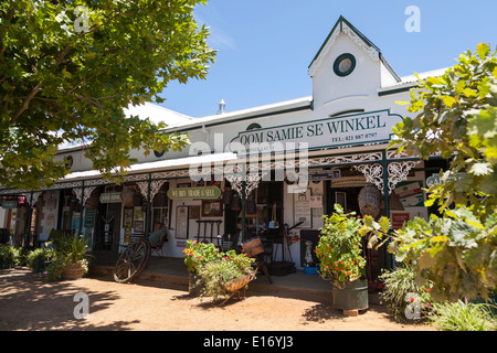 The Oom Samie se Winkel trading store, a well known tourist attraction in Stellenbosch, South Africa - Stock Photo