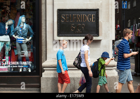 Selfridge & Co department store, Oxford Street, London, England, U.K. - Stock Photo