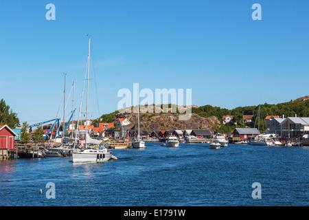 Old fishing village on the Swedish west coast - Stock Photo