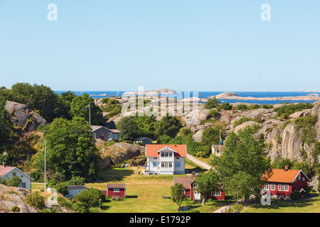 Summer house by the sea in the Swedish archipelago - Stock Photo