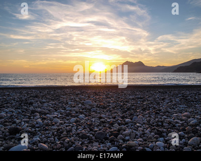 Sunsets over the sea in Porto flag - Stock Photo