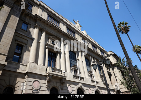 main building casa central pontifical catholic university of Santiago Chile - Stock Photo