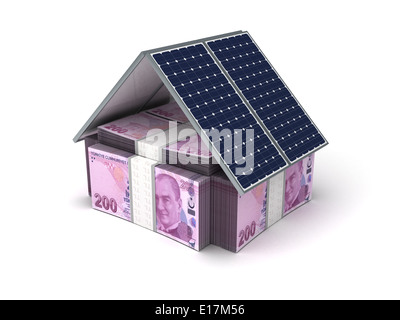 Energy Saving (turkish Lira) - Stock Photo