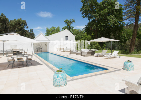 Luxury lap pool - Stock Photo