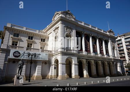 teatro municipal theatre Santiago Chile - Stock Photo
