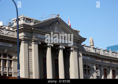 palacio de los tribunales de justica courts of justice palace Santiago Chile - Stock Photo
