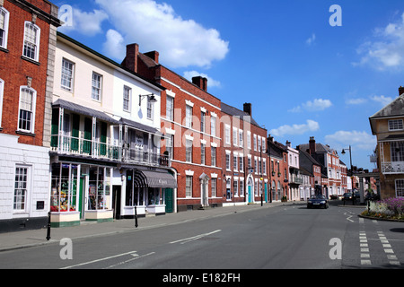 Georgian buildings in the High Street, Pershore, Worcestershire. - Stock Photo
