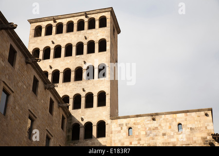 palau del lloctinent, placa del rei, gothic quarter, barcelona, catalonia, spain, europe - Stock Photo
