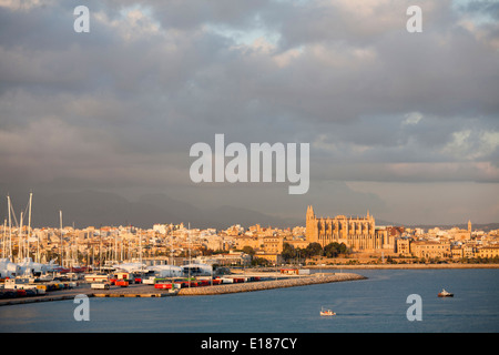 panoramic view, palma de mallorca, mallorca island, spain, europe - Stock Photo