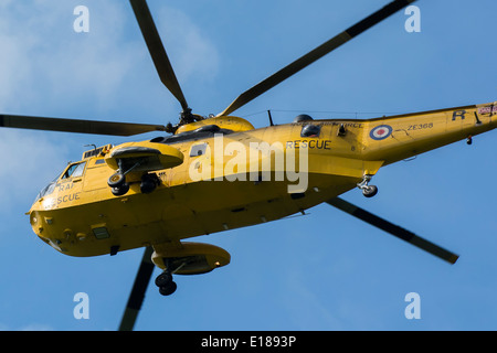 Air sea rescue helicopter in flight - Stock Photo