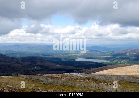 Panoramic View From Cairngorm Mountain Railway ,Scotland. - Stock Photo