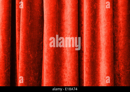 Vintage natural velvet red curtain background texture - Stock Photo