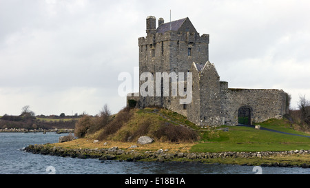 Dunguaire castle near Kinvarra in County Galway, Ireland - Stock Photo